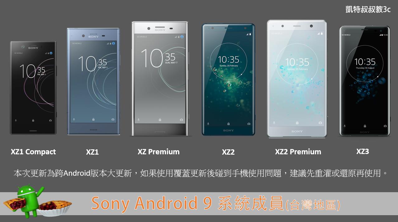 Sony 手機升級 Android 9 差別在那,快速分析給你看! - 2