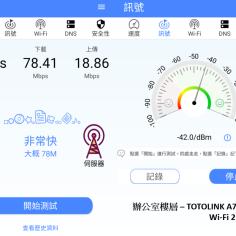 與分享器同樓層 - TOTOLINK A7000R WIFI 2.4GHz