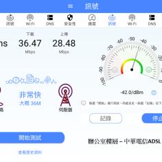 與分享器同樓層 - 中華ADSL WIFI