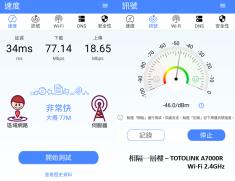隔一層樓 - TOTOLINK A7000R WIFI 2.4GHz