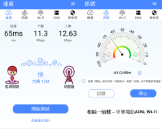 隔一層樓 - 中華ADSL WIFI